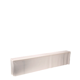 Funda blanca para banco 220 x 25 x 50 cm con asiento acolchado