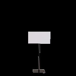 Panel de pie negro formato 40 x 50 cm Alt. 90 a 150 cm.