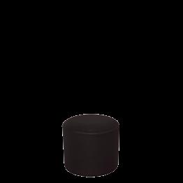 Puff con funda negra Ø 50 cm Alt. 45 cm.