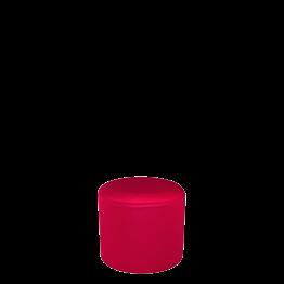 Puff con funda roja Ø 50 cm Alt. 45 cm.