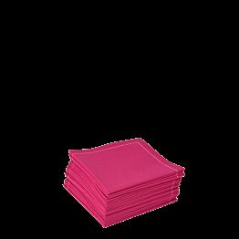 Servilleta cóctel tela fucsia 20 x 20 cm (30 u.)