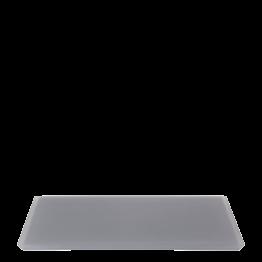 Bandeja resina antracita 30 x 40 cm.