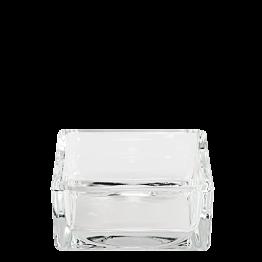 Cenicero en cristal cuadrado 8 x 8 cm Alt 3,5 cm