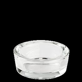 Cenicero en cristal transparente redondo Ø 9 cm Alt 4 cm