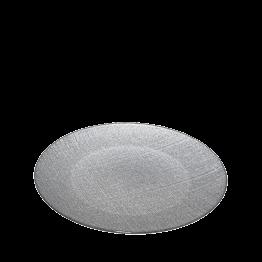 Plato de presentación Strass plata Ø 32 cm