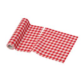 Rollo de servilletas tela vichy rojo 21 x 21 cm (por 12)