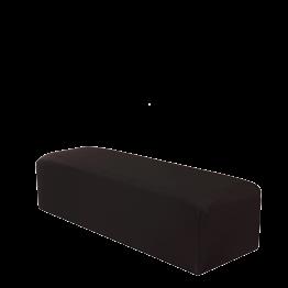 Banqueta con funda negra 150 x 50 cm Alt. 40 cm
