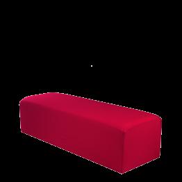 Banqueta con funda roja 150 x 50 cm Alt. 40 cm