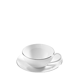 Taza y plato de té Platino 20 cl