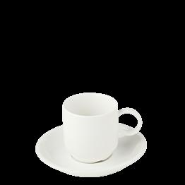Taza y plato de café Bruges 9 cl
