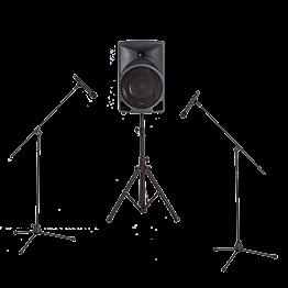 Sono : 1 altavoce – 2 micros de pie – 2 micros