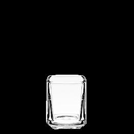 Mini cubo de cristal 4 x 4 cm H 5 cm 4 cl