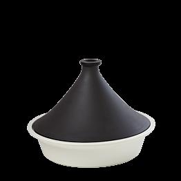 Cazuela tagín negro y blanco Ø 32 cm 300 cl