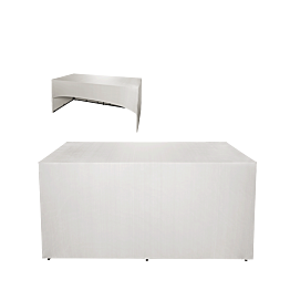 Buffet plegable con funda blanca