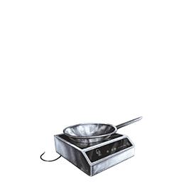 Hornillo a inducción modelo pequeño + wok