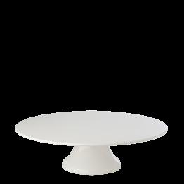 Bandeja porcelana con pie Ø 35 cm. Alt. 10 cm.