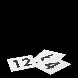 Número de mesa cuadrado del 1 al 50