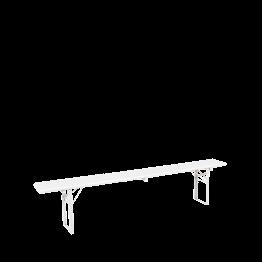 Banco de madera blanco Alt. 47 A. 220 P 25 cm.