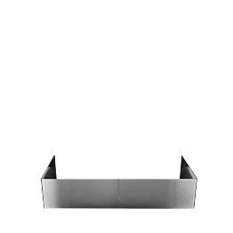 Lote de 2 protector hornillo en acero inoxidable 40 x 40 x 17 cm