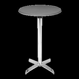 Mesa coctel alta redonda acero  Alt 111 cm. Ø 60 cm