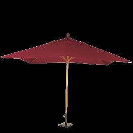 Parasol Luisiana rojo 300 x 300 cm + pie 30 x 30 cm