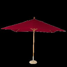 Parasol Luisiana rojo 300 x 300 cm + pie de granito Ø 50 cm