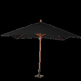 Parasol Luisiana negro 300 x 300 cm + pie 30 x 30 cm