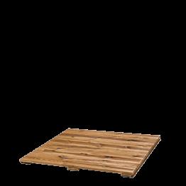 Loseta de madera 95 x 95 cm sin colocación