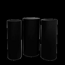 Mesa cóctel alta cilindros negra Alt 110 -112 - 114 (3 u.)