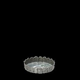 Soporte de vela de cinc motivo puntos A 1,5 cm Ø 8 cm