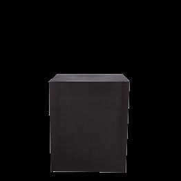 Buffet Cubo lycra negro sobre ruedas 70 x 100 Alt. 110 cm