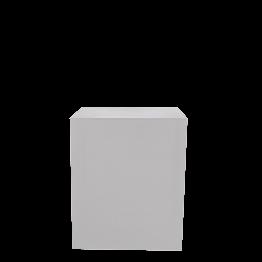 Buffet Cubo lycra blanco sobre ruedas 70 x 100 Alt 110 cm