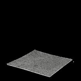 loseta de moqueta gris jaspeado con colocación