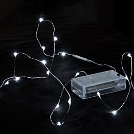 Guirlanda 12 LEDS gotas de agua, luz  blanca fría