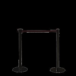 Poste separador con cinta retráctil L. maxi 2 m Alt. 95 cm.