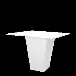 Mesa cóctel alta Alt. 112 cm Cono blanca con sobre blanco