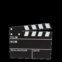 Claqueta de cine 30 x 26 cm