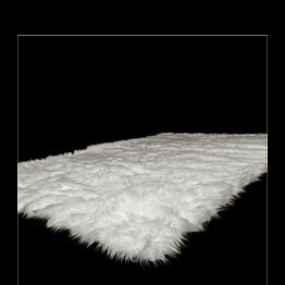 Tapis blanc en fourrure 140 x 200 cm