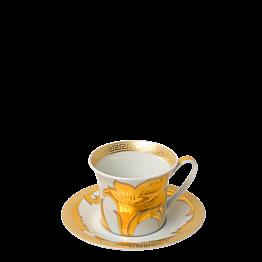 Taza y plato de café Versace 10 cl