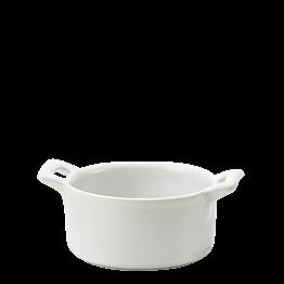 Mini cazuelita porcelana blanca Ø 7,2 cm H 3,5 cm 8 cl