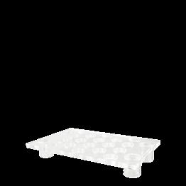 Bandeja Burbuja metacrilato con pie 55 x 35 cm H 8 cm