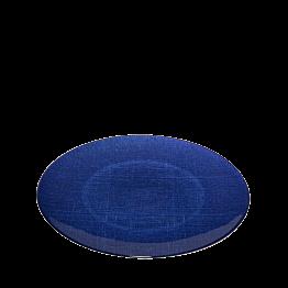 Plato de presentación azul de cristal Ø 32 cm