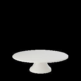 Bandeja porcelana con pie Ø 29,5 cm. Alt. 9 cm