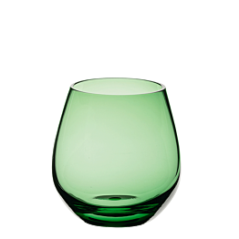 Vaso Moon verde Ø 9 cm Alt. 6,5 cm 32 cl.