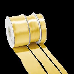Cinta de satén Oro - ancho 12 mm - Rollo de 25 m