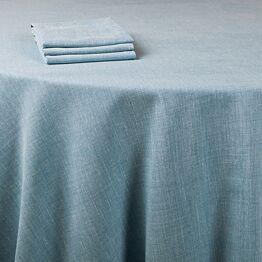 Pasillo de mesa Lino azul 390 x 50 cm