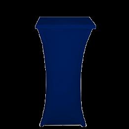 Mesa cóctel alta con funda azul 60 x 60 cm Alt. 111 cm