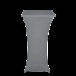 Mesa cóctel alta con funda gris 60 x 60 cm Alt. 111 cm