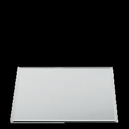 Bajo plato en espajo cuadrado 40 x 40 cm