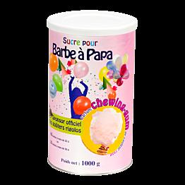 Azúcar rosa para algodón de azúcar aroma de chewing gum 1 kg